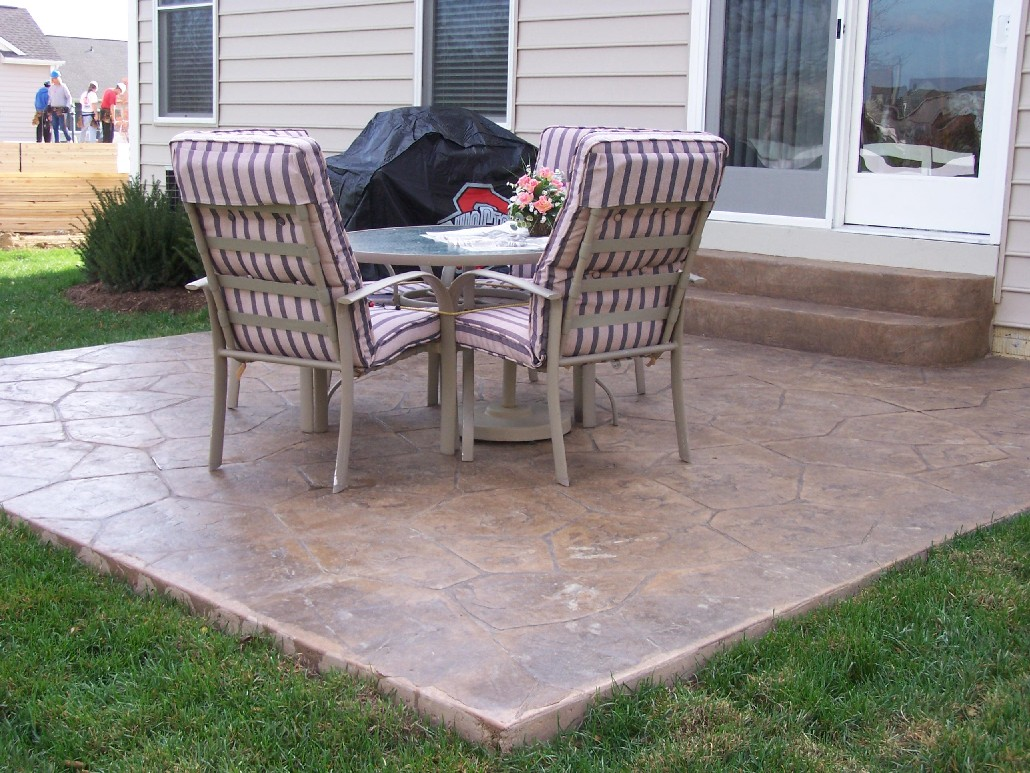 concrete patio home design roosa